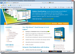 Windows Vista/7 32/64bit対応のWebDAVクライアント Gladinet Cloud Desktop
