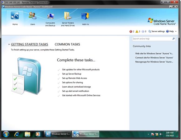 Windows Small Business Server (SBS) Code Name Aurora のベータテスト開始