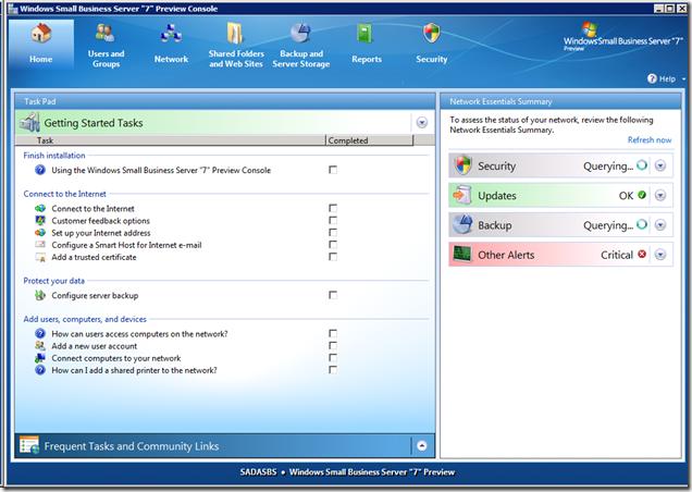 Small Business Server(SBS) 7 パブリックベータが公開されました