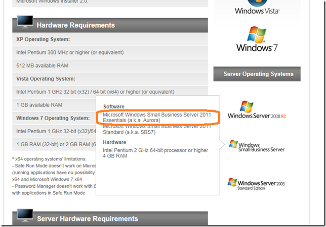 Kaspersky Small Office Security は WHS2011でも動くのか?