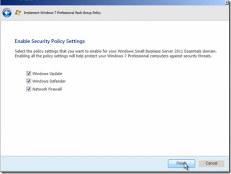Add-in: Windows 7 Professional Pack for SBS Essentilas