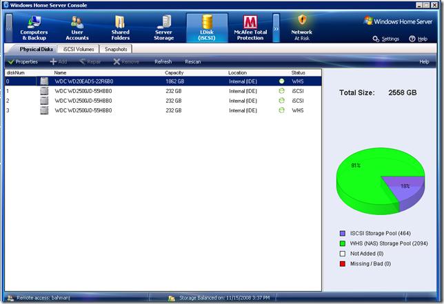 Add-in:LDisk v2.0.3(WHS V1/WHS2011)