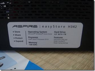 Acerの新型ホームサーバー H342-S5をセットアップ