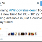 Windows 10 Insider Preview build 10122 公開